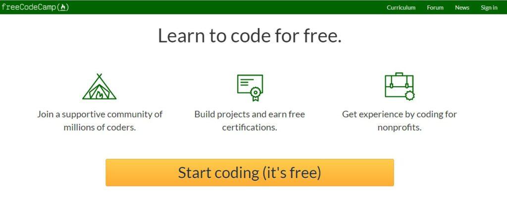 freecodeCamp a web design tutorial